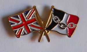 Great Britain and Black Country Friendship Flag Pin Badge